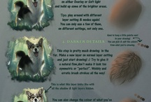 Painting hair and fur tips / Tutorials, tips, and tricks for painting and drawing realistic hair and animal fur in any medium or digitally.