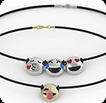 Emoji Jewelry / Smiley Face, Emoji Bracelets,Necklaces and Emoji Rings in Sterling Silver