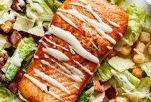 caesar salade zalm