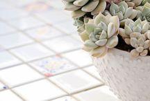 Mesas azulejos