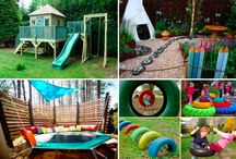 Aménagement espaces de jeux dans le jardin