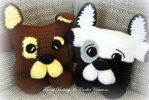 Crochet Home Decor / French Bulldog