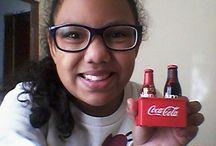 ganhei a miniatura das garrafas da COCA-COLA ♥