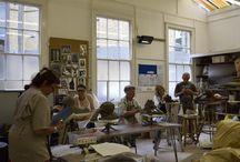 Tunbridge Wells Sculpture Summer School / Showcasing the talents of our Tunbridge Wells Sculpture Summer School class as they embark on creating a figure in clay.