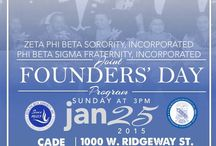 2015 NATIONAL FOUNDERS DAY / CHAPTER CELEBRATION PROGRAMS FOR NATIONAL FOUNDERS DAY