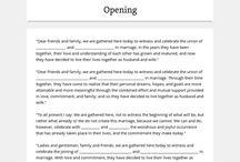 Wedding ceremony organisation
