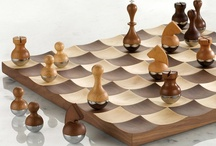 Cool chess sets / These are the sets I'd love to play on, to admire, and to see in action. / by Marion Anderson