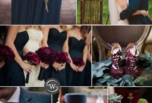 wedding colors inspiration. / Navy blue, royal blue , soft blues, cranberry as accents, sage green, soft greens to offset. And neutral tones like greys and whites.