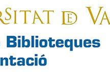 Servei de Biblioteques i Documentació UV /  El Servei de Biblioteques i Documentació  aglutina totes les biblioteques i arxius de la Universitat de València. Coordina el funcionament dels diferents punts de servei que existeixen en els diferents campus de la Universitat.
