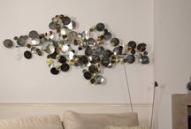 Wall sculptures / Wall sculptures of metal. Multi dimensional art objects to replace flat paintings. C. Jeré art.