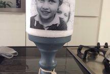 Foto op kaarsen