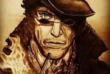 MORENO ART PORTRAIT-RITRATTI / Ritratti di personaggi famosi o di personaggi simbolici interamente fatti a matita...