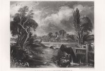 John Constable 'English Landscape Scenery' original mezzotints by David Lucas, 1855. / Mezzotints on steel by David Lucas (1802-1881) after John Constable (1776–1836). From 'English Landscape Scenery', 1855. John Constable RA was an English Romantic landscape painter. He believed that imagination and emotion were an important part of artistic expression and so incorporated these tenets into his lush, idyllic scenes. Beginning in 1829, Constable worked closely with David Lucas to produce the mezzotints as a general survey of his work.  Engravings are available for sale.