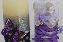 Διακοσμηση Αρωματικων Κεριων και Αρωματικα Σαπουνακια με decoupage / Aρωματα βανιλιας καφε πρασινου μηλου κανελας κ.α...στα κερια!! Αρωματα πικραμυγδαλου και λεβαντας στα σαπουνακια !!