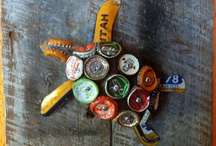 bottle cap art and diy / by Krista Mitchell