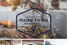Maine Thing Quarterly / The Maine Thing Quarterly is an immersive, media rich e-zine experience that allows readers to step into a part of Maine's culture and lifestyle. Each edition features a different topic. mainequarterly.com  / by Visit Maine