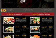 Restaurant Menu Inspiration / Inpiration about restaurant menu design, structure, color palettes and more...