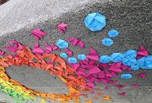 street art / colourful paper