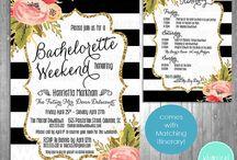 black white bachelorette party