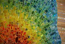 crafty - GLASS Fusing Mosaics and the Like / by Suzy Sholar