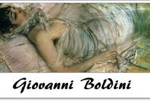 """⊱ Giovanni Boldini ⊰   / ≻ Giovanni Boldini ~ Ferrara, Italy; 31 December 1842 – Paris, France; 11 July 1931 ≺  Boldini  was an Italian genre and portrait painter. According to a 1933 article in Time magazine, he was known as the """"Master of Swish"""" because of his flowing style of painting."""