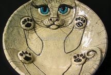 Kočky - keramika