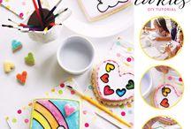Painted Cookies / Hand painted cookie art
