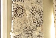 Things to do with old doilies / curtains, pictures, runners, lights etc