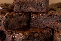 Three chocolate brownies