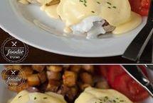 Breakfast eggs benedict