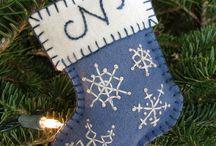 Felt small stocking /initial orr name