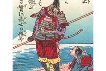 Samurai wood block prints