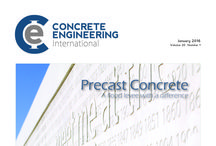 Concrete Engineering International, January 2016 / January's issue features are Precast Concrete, Formwork and Falsework, Visual/Decorative Concrete, Floors and Screeds, High-Rise Construction, Surface Preparation, Hydro-demolition