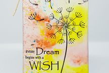 NEVER STOP MAKING WISHES A6 stamps- inspiration