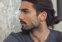 Men with long hair.... and of course Man buns