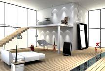 Umbau Penthouse Düsseldorf / Entwurf, Planung & Bauaufsicht bei Carine Stelte Designs