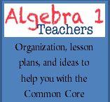 Algebra1 / Algebra, common core aligned, math ideas, integers, fractions, teaching, teacher resources, algebra