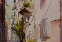 aquarelles urbaines