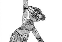 Zentangle / Zentangle tegninger