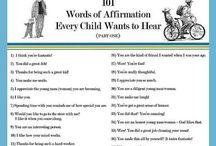Words of affirmation. Kids