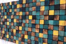 Fa mozaik fal