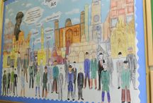 J5B & J5F Figurative art (2015) / Figurative art inspired by Lowry's 'Coming from the Mill'.