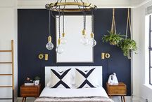 bedroom navy blue