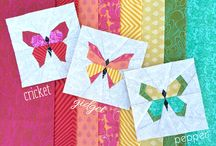 Mariposa en papar piecing