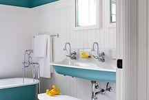 Salle de bain vintage/récup