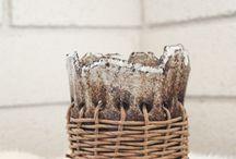 Bol ficelle / Ceramique et tissage ficelle