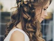 Wedding hairstyles and dresses