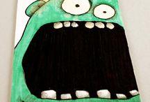 Halloween / Tegne-og maleopgaver til billedkunstundervisningen...