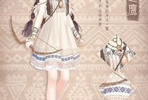 дизайн платьев (аниме)
