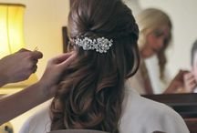 Half-Up, Half-Down & Hair Down Bridal Hair Styles / Butterfly Hair & Makeup